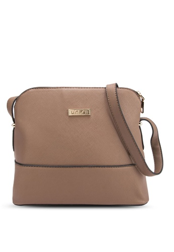 Unisa green Unisa Saffiano Texture Shell Shape Mini Sling Bag UN821AC97BOWMY_1