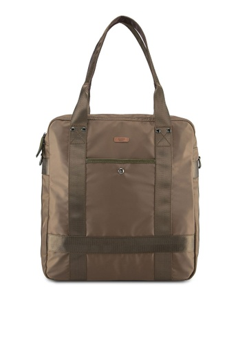 Sparrow Green brown Multi Way Carriage Backpack SP065AC0ST5MMY_1