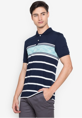 Blued blue Barrington Polo Shirt 273B4AA6599F3FGS_1