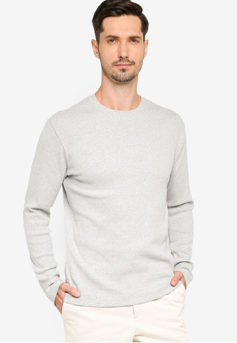French Connection grey Durby Rib T-Shirt 86950AA2311EB9GS_1