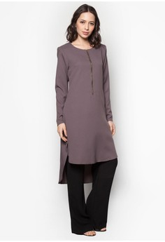 Elleeze Tunic Fishtail Blouse