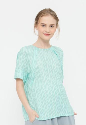 Bove by Spring Maternity green Kimono Sleeved Zenna Nursing Top Mint 3263DAA0E5C432GS_1