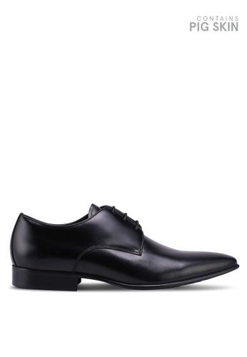 Dune London black Patrol Chisel Toe Plain Gibson Shoes 83BE7SHDE89453GS_1