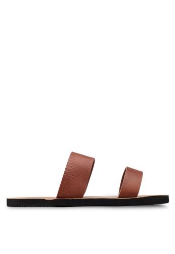 Sara Double Strap Slide Sandals