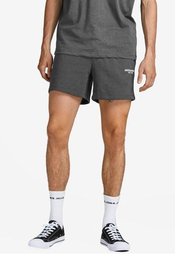 Jack & Jones grey Hexa Sweat Shorts BE0D8AAB470914GS_1