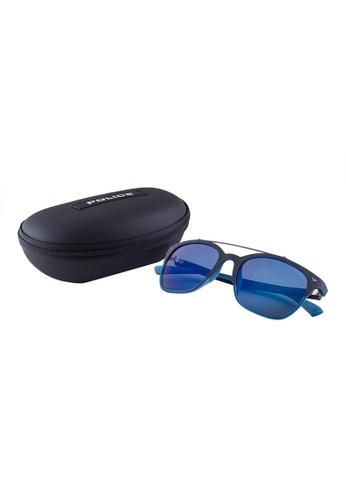 9fd3ce6c08 Buy Police POLICE Game 5 Wayfarer Blue Polarized Sunglasses SPL161 Online