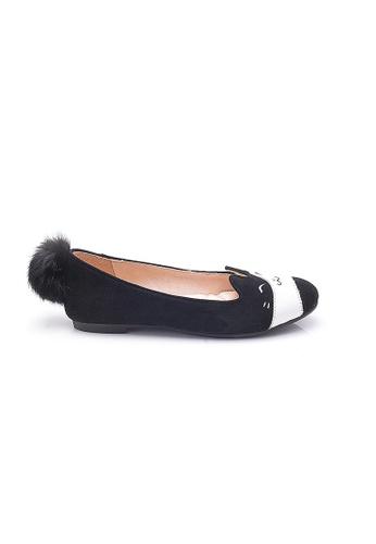 Elisa Litz black Bobtail Flats  (Black) 70049SH2294F79GS_1