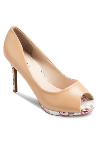Doris 露趾印花高跟鞋, 女esprit 鞋鞋, 鞋