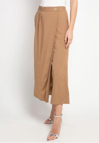 SIMPLICITY brown Culotte Wrap D792DAA88EAA9DGS_1