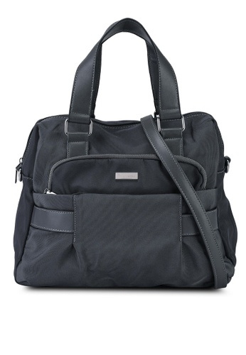 NUVEAU grey Premium Nylon Convertible Top Handle Bag EFD5CAC0130FC1GS_1