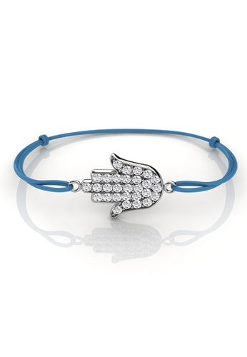 Her Jewellery blue Swarovski® Crystals -Palm Bracelet (Blue) (18K White Gold Plated) Her Jewellery HE581AC0RCDLMY_1
