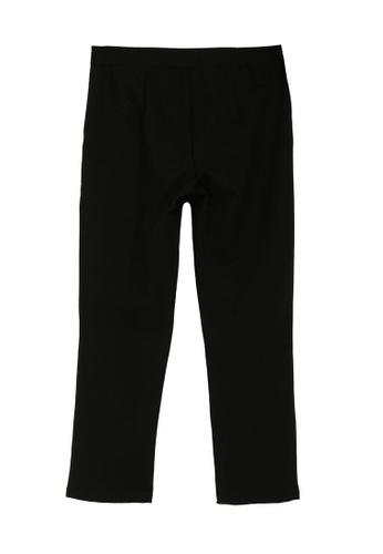 LC Waikiki black Elastic Waist Ankle Length Stretch Slacks D0924AA1733F34GS_1