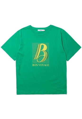 b+ab green Bon Voyage tee 8A554AACA6F541GS_1