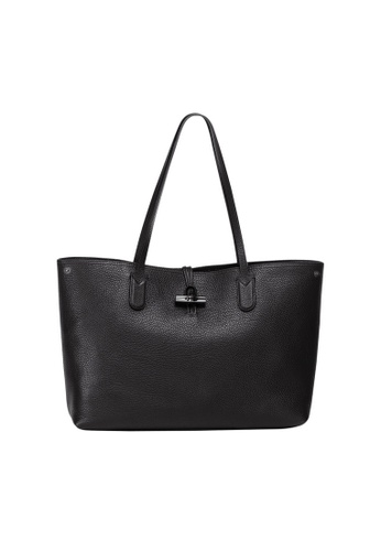 LONGCHAMP 黑色 Longchamp Roseau 側背提包(黑色) 6D700AC0495299GS_1