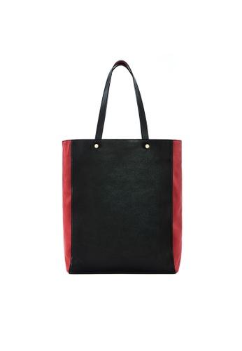4b183d6488ce OBX black Medium Black Leather Tote Bag 4974FACB805E54GS 1