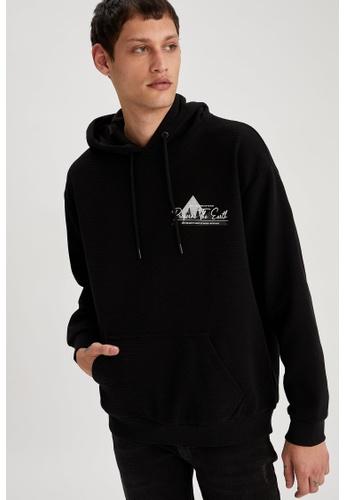 DeFacto black Printed Sweatshirt 0ACCDAA8A8A45CGS_1