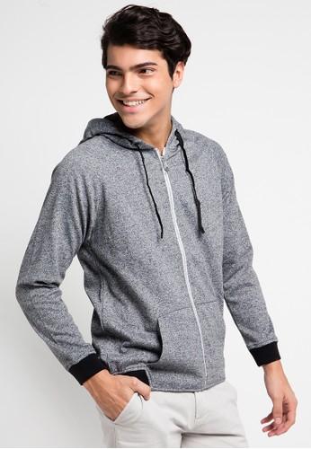 Cressida grey Plain Grey Hoodie Jacket CR235AA0UQCYID_1