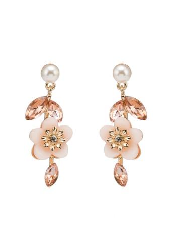 ALDO pink Nutmeg Pierced Earrings C875DAC9B25184GS_1