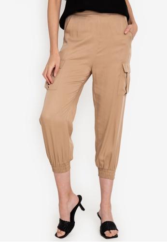 Origin by Zalora beige Utility Pants made from TENCEL™ 7383EAACC6215CGS_1
