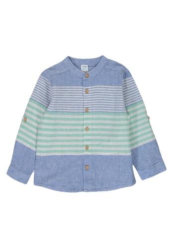 LC Waikiki blue Striped Linen Shirt 28562KA3973994GS_1