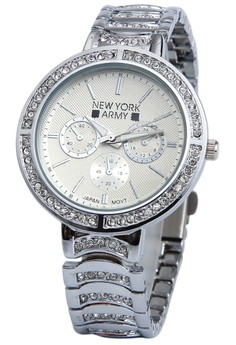 Newyork Army Silver Rhinestone for Women #664