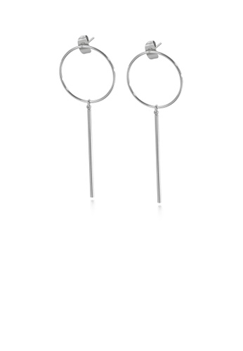 Glamorousky silver Simple and Fashion Geometric Round Tassel 316L Stainless Steel Earrings 36EE6AC37B644EGS_1