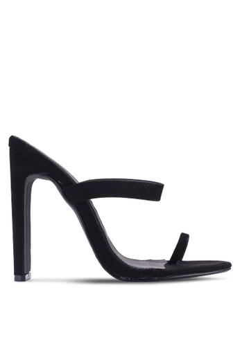 MISSGUIDED 黑色 繞帶夾趾高跟鞋 1E414SH51A85A5GS_1