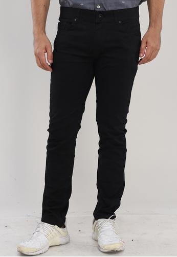 Bossini Men black Slim Tapered Casual Pants A5BCFAAB614500GS_1