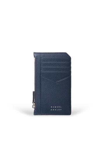 Samuel Ashley blue Nicky Card Case with Zip Pocket - Deep 9C39DAC48C61D8GS_1