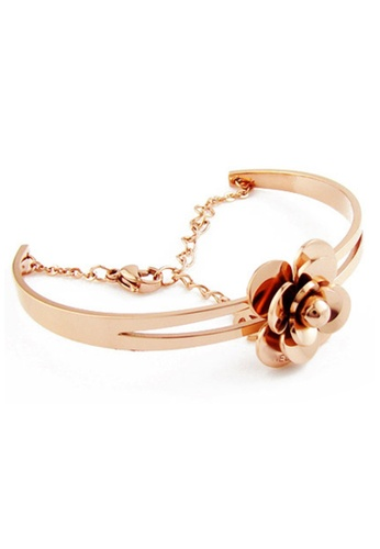 YOUNIQ gold YOUNIQ Rosy 14K Titanium Bangle (Rosegold) YO999AC32SBNMY_1