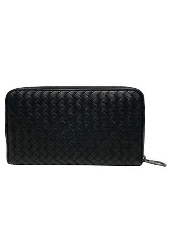BOTTEGA VENETA black Bottega Veneta Intrecciato Zip Around Wallet in Black 152EEAC0F2CC0DGS_1