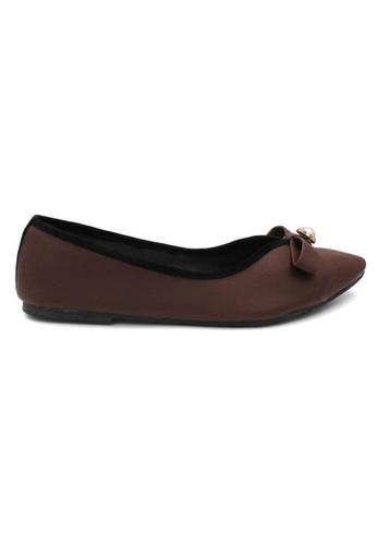 midzone brown MIDZONE Comfortable Ballet Flat 07148SHA9668F3GS_1
