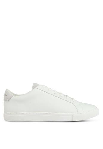 KG Kurt Geiger white Donnie White Leather Sneakers D5740SH25B73C6GS_1