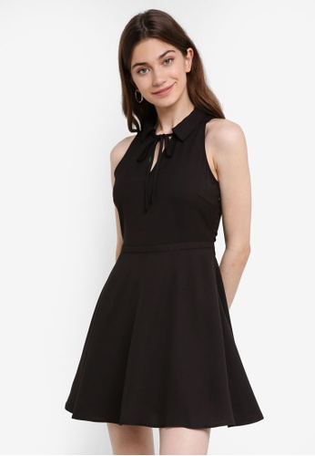 Something Borrowed black Relaxed Mini Collared Dress A8565AA69D9B88GS_1