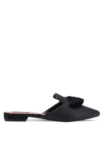 ZALORA black Tassel Mule Slides 5B6DDSH28FBF63GS_1