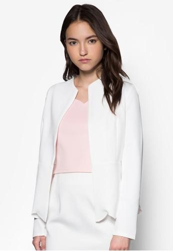 荷葉下擺雙色外套, 服飾,esprit 品牌 外套