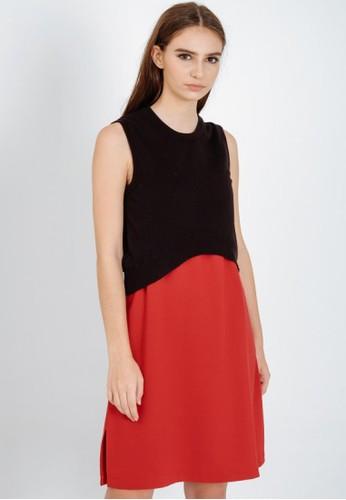DETAK WAKTU black and red Detak Waktu Red Noelle Dress 3AD84AAC68C47CGS_1