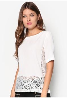 Short Sleeves Lisa Lace Blouse