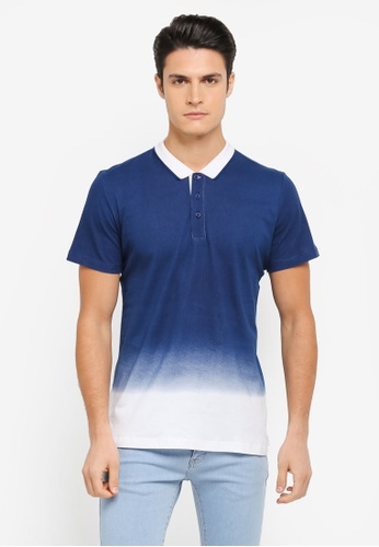 ZALORA white and multi and navy Printed Gradient Polo Shirt E6E29AA227AB10GS_1