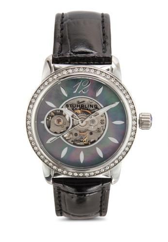 Stuhrling Original black Stuhrling Original Women's 856.02 Delphi Analog Display Automatic Self Wind Black Watch ST251AC67IKYMY_1