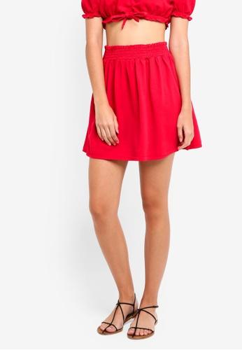 Miss Selfridge red Petite Red Denim Mini A-Line Skirt 29187AA09C9885GS_1