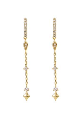 Wanderlust + Co 金色 Stargazer Drop Gold Earrings 06770AC6D3232BGS_1