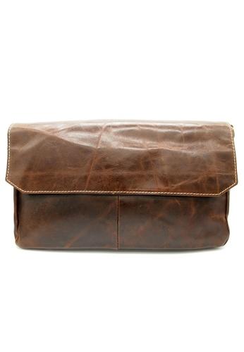 LUXORA brown The Ninja Co. Top Grain Leather Messenger Bag Shoulder Sling Handbag Travel Accessory Gift CD8D9AC2C16E8EGS_1