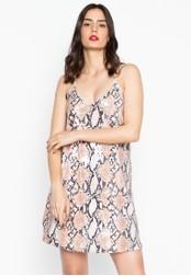 Chase Fashion brown Sequin Animal Print Mini Dress 65B3BAA82367F7GS_1