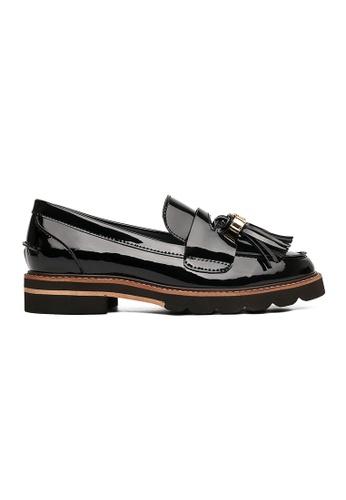 Byford black Myrtle Tassel Loafers 934DFSHECF4033GS_1