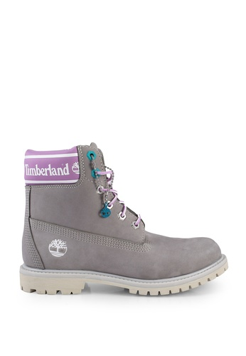 Timberland grey 6 Inch Premium Leather And Fabric Waterproof Boots 20DFASHEF75FB6GS_1