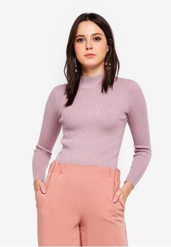 BYN purple Knitted Top A73C7AA9E591EFGS_1