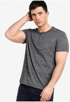 19cb8389f3d3d6 Banana Republic black Vintage Slub Short Sleeve Henley T-Shirt  FB85DAAFFB2BBFGS 1
