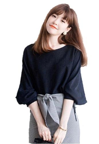 Sunnydaysweety blue Boutique New Shiny Bat Sleeves Women Top C20050821 43789AA5CDC72CGS_1