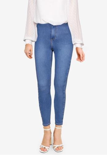 TOPSHOP blue Mid Wash Joni Jeans A8BA5AAAA3BE05GS_1